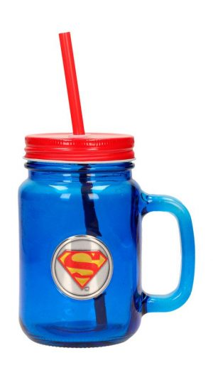DC Comics logotip Mason Jar Glass Superman