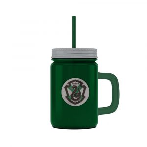 Harry Potter Mason Jar stekleni logotip Slytherin