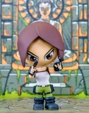 Tombol Raider minifigure Lara Croft Lootcrate Eksklusif 8 cm
