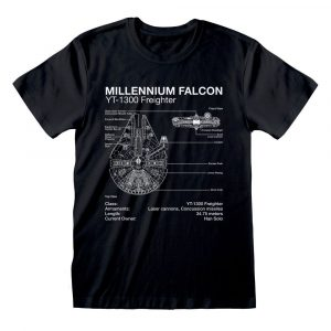 Star Wars T-Shirt Millenium Falcon Sketch