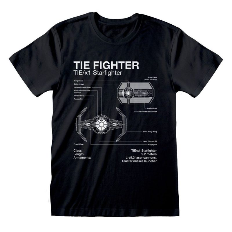 Star Wars T-Shirt Tie Fighter Sketch