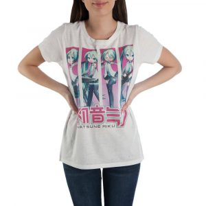 Hatsune Miku Girlie T-Shirt 4 Poses