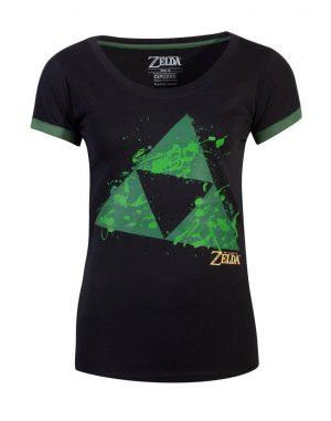The Legend of Zelda Girlie T-Shirt Triforce Splatter