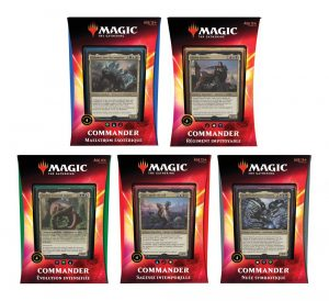 Magic the Gathering Ikoria: la terre des béhémoths Commander 2020 Decks Display (5) en francès