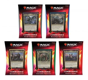 Magic the Gathering Ikoria: Terra dei Behemoths Commander 2020 Decks Display (5) italians
