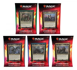 Magic the Gathering Ikoria: Terra de Colossos Commander 2020 Decks Display (5) portuguesos